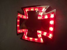 maltese cross led rear light stop and tail chrome case streetfighter chop